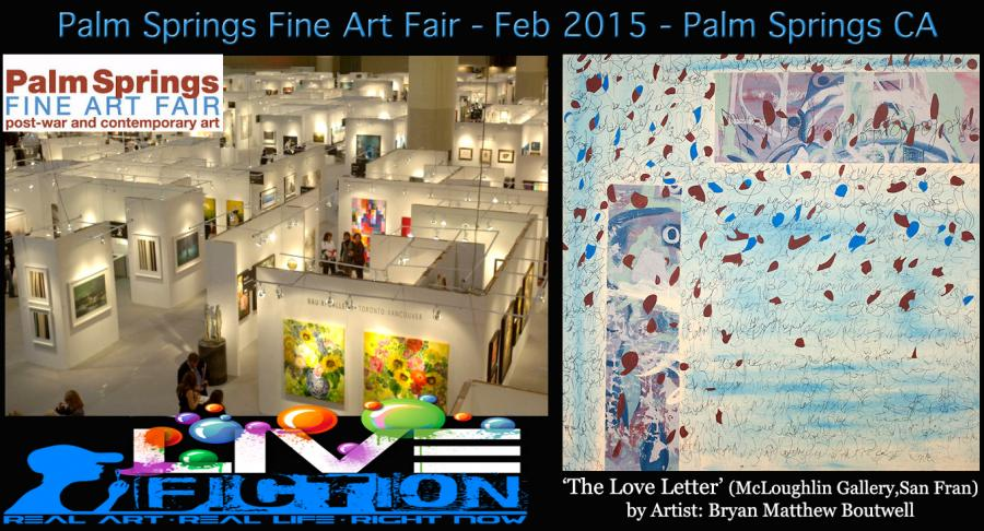 Palm Springs Fine Art Fair February 2015, McLoughlin Gallery shows artist Bryan Boutwell's painting 'The Love Letter'