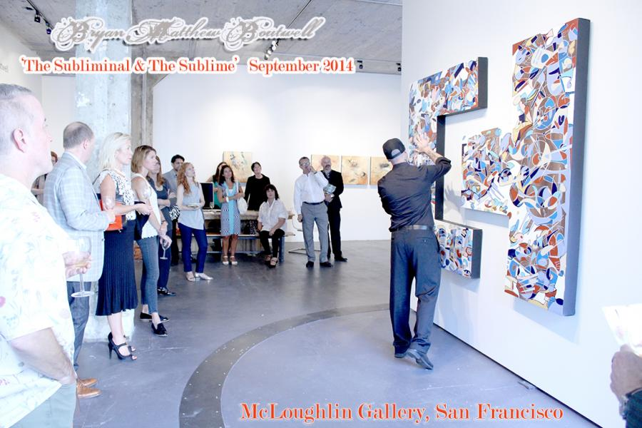 Bryan Boutwell gives artist talk at McLoughlin Art Gallery, San Francisco CA, September 2014