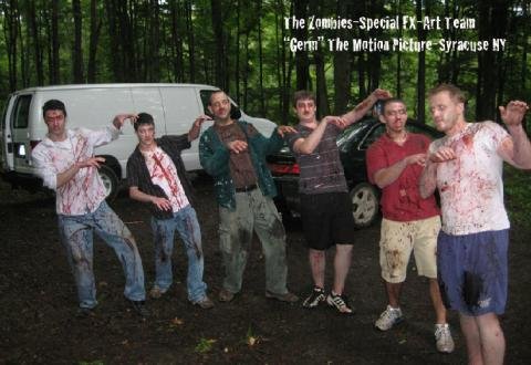 Motion Picture Title: Germ-Zombie Extra's On Set