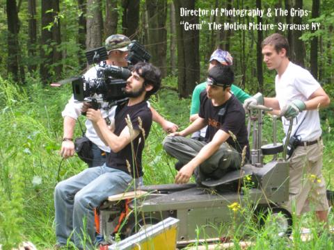 Motion Picture Title: Germ-Director of Photography with the Grips