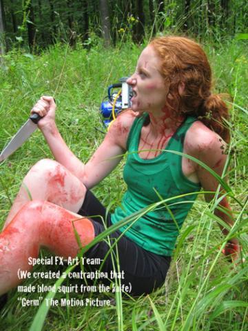 Motion Picture Title: Germ-Creating Blood Splatter FX