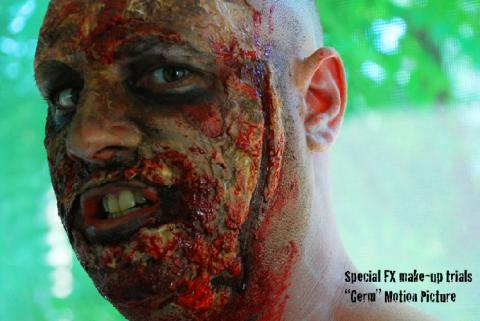 Motion Picture Title: Germ -Preliminary Make-Up Trials For Horror Movie